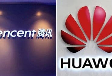 Tencent and Huawei