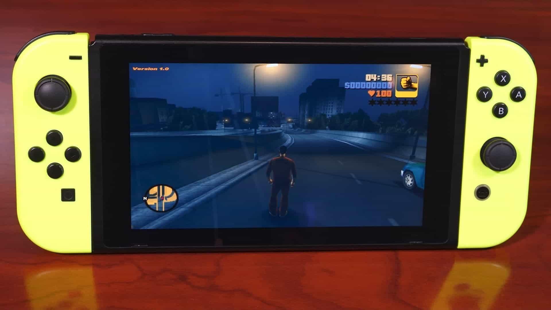 Grand Theft Auto 3 on Switch