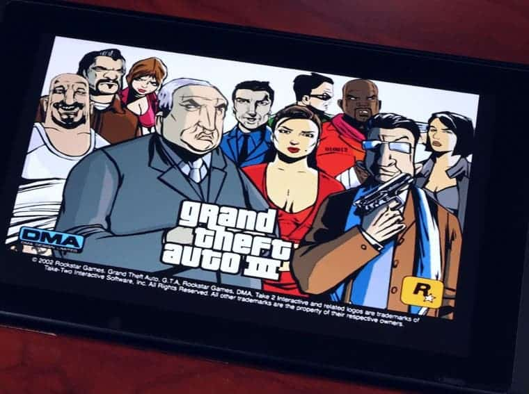 Grand Theft Auto 3 on Switch