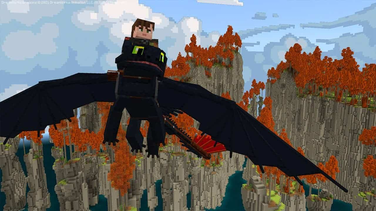 Minecraft x How to Train Your Dragon